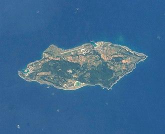 Yonaguni - Yonaguni from space, April 2014