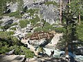 Yosemite Creek. Footbridge across just a few hundred feet before Yosemite Falls. - panoramio.jpg