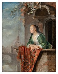 Young Lady on a Balcony
