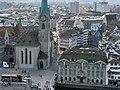 Zürich - Fraumünster - Münsterhof - Zunfthaus zur Meisen - Sicht vom Grossmünster Karlsturm IMG 6390.JPG