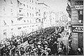 Z Beblova pohřbu v Curychu - Hudba a průvod (1913).jpg