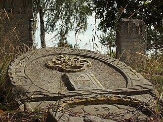 Zaklików - Historic tombstone at the Jewish cemetery in Zaklików