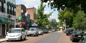 Zionsville, Indiana - Looking north along Main Street, 2008