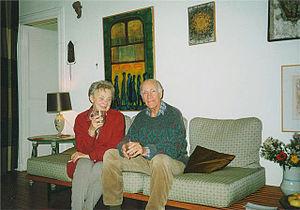 Zofia Romanowiczowa - Zofia and Kazimierz Romanowicz in Paris, September 1998
