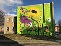 """Bee Kind"" Community Art Grant mural (2019; Renz Balagtas, artist), 924 E. Biddle Street, Baltimore, MD 21202 (49243440951).jpg"