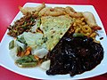 """""""Mongolian set"""" at food court stall """"Mongolian BBQ Seoul Express"""" in Colombo.jpg"""