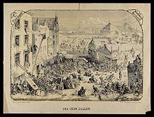 Der Löwe kommt, Humoreske von Carl Reinhardt (Verlag von Georg Wigand, Druck von Breitkopf & Härtel), um 1860. (Quelle: Wikimedia)