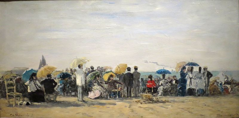 File:'Beach at Trouville' by Eugène Boudin, Norton Simon Museum.JPG