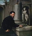 'Portrait of Marco Antonio Savelli', oil on canvas painting by Giovanni Battista Moroni, c. 1543-1547, Museu Calouste Gulbenkian, Lisbon.JPG