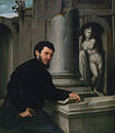 'Portrait of Marco Antonio Savelli', oil on canvas painting by Giovanni Battista Moroni, c. 1543-1547, Museu Calouste Gulbenkian, Lisbon.JPG