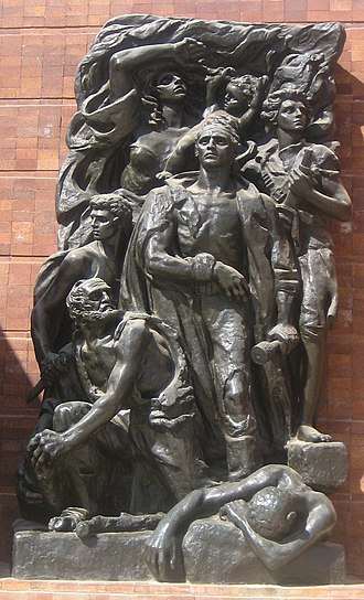 Nathan Rapoport - Image: 'The Warsaw Ghetto Uprising', bronze sculpture by Natan J. Rapoport, 1947, Yad Vashem, Jerusalem, Israel