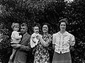 (Group portrait outside in front of a bush) (AM 75382-1).jpg
