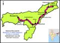 (Rangia - New Tinsukia) Intercity Express route map.png