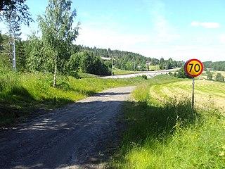 Ådalen valley in Sweden