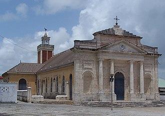 Le Moule - The church of Saint-Jean-Baptiste, in Le Moule