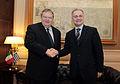 Συνάντηση Αντιπροέδρου Κυβέρνησης και ΥΠΕΞ Ευ. Βενιζέλου με Υπουργό Άμυνας Ιταλίας Mario Mauro (6.12.2013) (11236311616).jpg