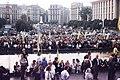 Велелюдний мітинг на Майдані Незалежності, 1990-і роки.JPG