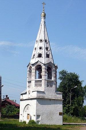 Bezhetsky District - The bell-tower of the Church of the Presentation of Mary, Bezhetsk.