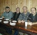 Поливанов А.А., Кутаев Ю.М., Бабкин А.И. и Бородавка Ю.М. (слева направо). Банный коллектив.07.01.2003.jpg