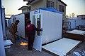 کارگاه ساخت کانکس برای مناطق زلزله زده کرمانشاه در زمستان86، منطقه ازگله Earthquake Kermanshah. Iran.jpg