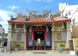 Chinese folk religion - The Temple of the Town God of Wenao, Magong, Taiwan.