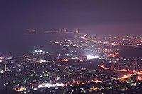 青の山山頂展望台からの瀬戸大橋 - panoramio.jpg