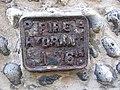 -2020-01-12 Cast iron fire hydrant sign, on Surrey Street, Cromer.JPG
