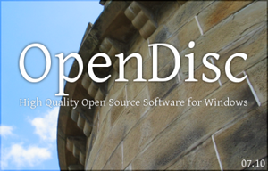 OpenDisc splash screen