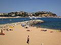 080 Platja de Sant Feliu, vora el moll de sa Roca Grossa.jpg