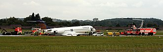 Contact Air - The Fokker 100 involved in the emergency landing of Flight 288 shortly after the incident at Stuttgart Airport.