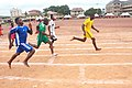 100 meters, Senior Boys racing event 02.jpg