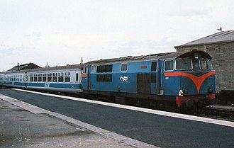 NIR 101 Class - NIR 101 Eagle with an Enterprise Service in Dublin 15 September 1980.