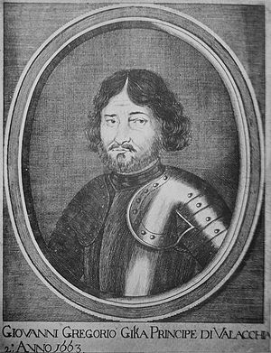 Ghica family - Grigore Ghica, the first Prince of Wallachia (1659-1660 and 1673-1678) from the Ghica family.