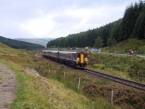 British Rail Class 156 - First ScotRail 156456 on the West Highland Line between Tyndrum Upper and Bridge of Orchy.