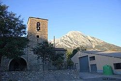 139.Egea (Valle de Lierp) - Iglesia de San Esteban + Turbón.jpg