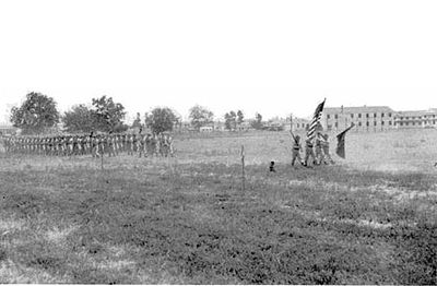 153rd Infantry on Parade, Fort Chaffee, 1950