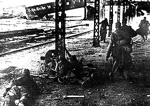 Vitebsk–Orsha Offensive - Troops of the 158th Rifle Division fighting near the Vitebsk railway station during the assault on the city