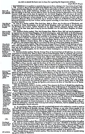 Corn Laws Wikipedia