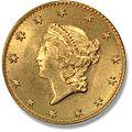 1849 Аверс золотого доллара I типа.jpg