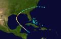 1893 Cheniére Caminada hurricane track.png