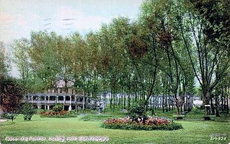 Dorney Park & Wildwater Kingdom - 1910 photo of picnic grove and pavilion