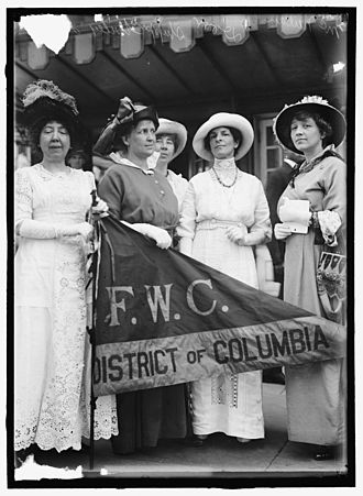 General Federation of Women's Clubs - Federation Of Women's Clubs, D.C. Leaders Of Delegation To White House, 1914: Mrs. Ellis Logan; Mrs. H.W. Wiley; Miss E. Shippen; Mrs. R.C. Darr; Miss M. McNeilan