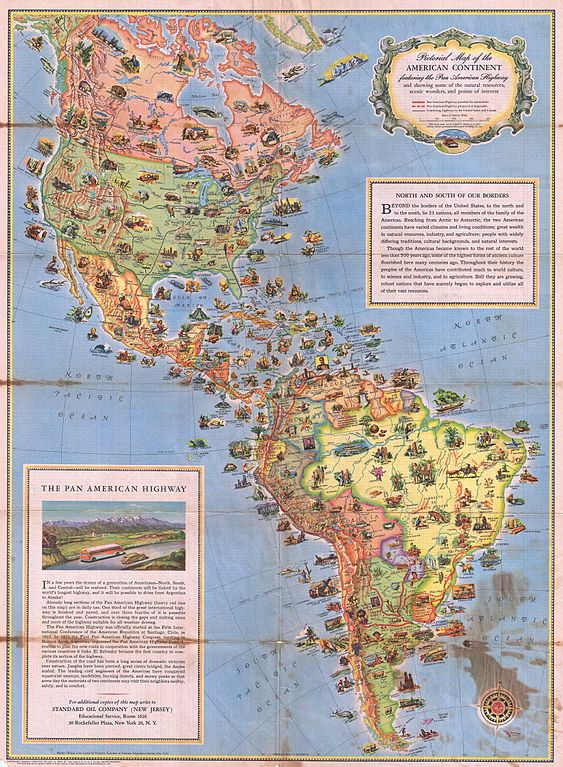 File Pictorial Map Of North America And South America - South america road map