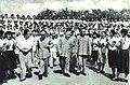 1963-09 1963年 中国科学技术大学首届毕业典礼 左起杨秀峰 郭沫若 陈毅 聂荣臻.jpg