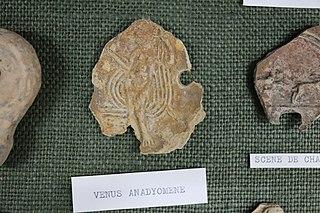 Lampe - Vénus anadyoméne (Musée de Die)