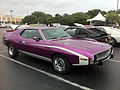 1972 AMC Javelin SST in purple with white C-stripes at 2014-AMO-NC meet 1of5.jpg