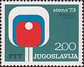 1973 World Table Tennis Championships stamp of Yugoslavia.jpg