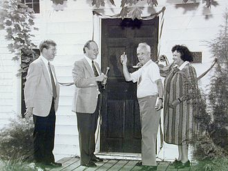 Robert Ingersoll Birthplace - Image: 1988 dedication Madigan Kurtz Mass Millholland