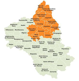 Aveyron's 1st constituency - Image: 1e circonscription Aveyron
