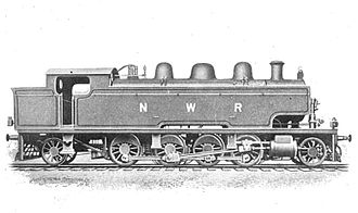 Bolan Pass - Tank locomotive, built around 1907 for service on the Bolān Pass railway